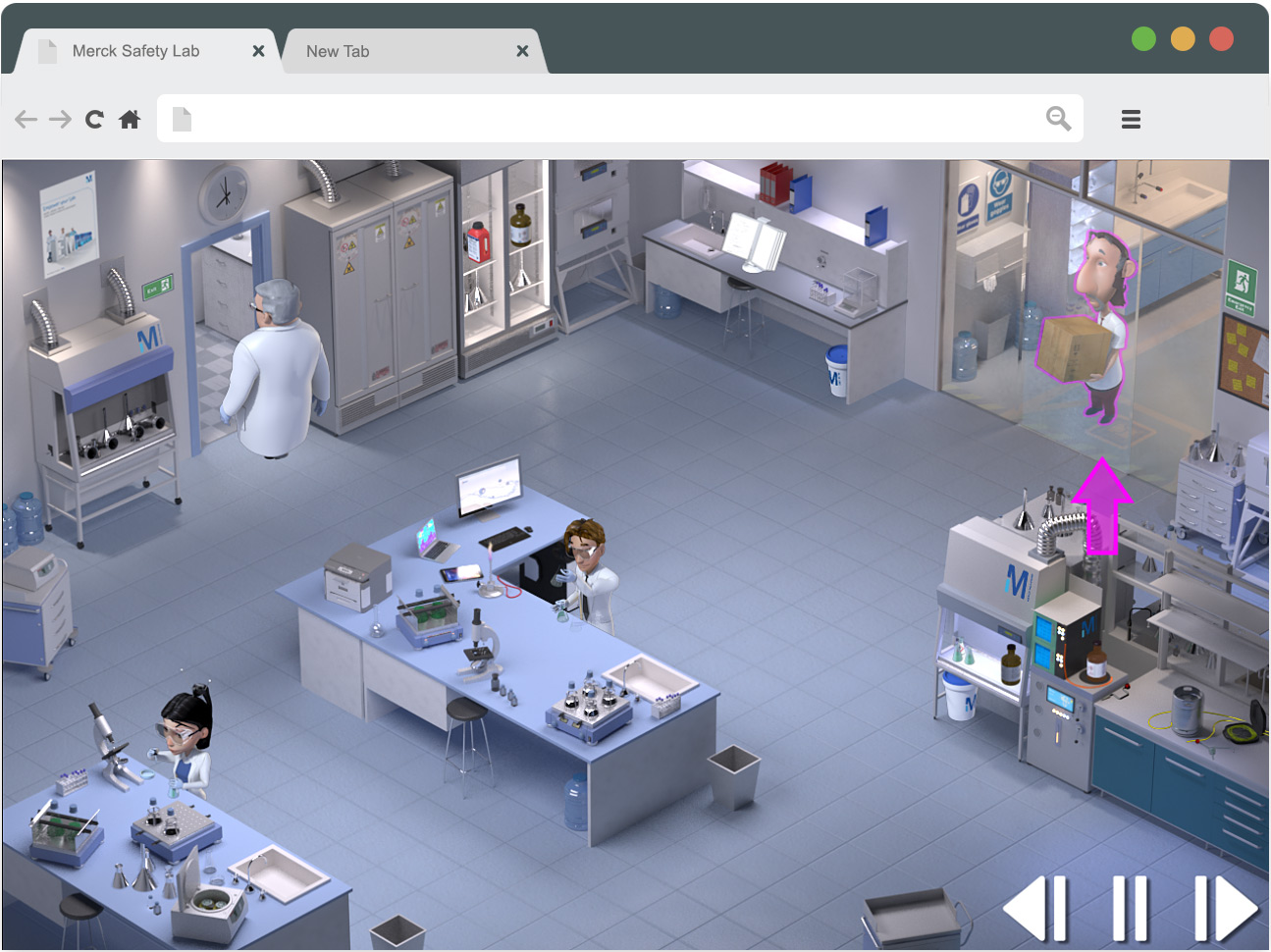 3d-io merck safety game 3d-room